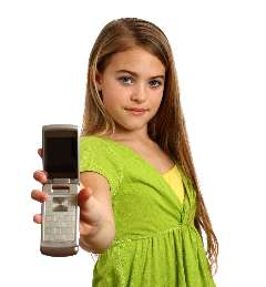 cellphone, share, little girl, girl